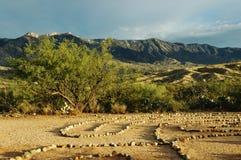 Labyrinthe de l'Arizona photo stock