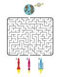 Labyrinthe de l'espace Images libres de droits