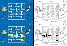 Labyrinthe de mer illustration libre de droits