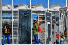 Labyrinthe de miroir Images libres de droits