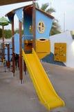 Labyrinthe de modèle de glissière de Chambre de jeu de parc d'enfants Image stock