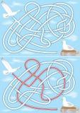 Labyrinthe de mouette illustration libre de droits