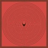Labyrinthe de mythologie de la Grèce Photo stock