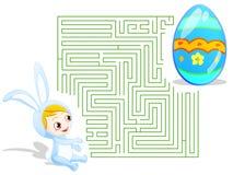 Labyrinthe de Pâques Images libres de droits