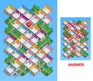 Labyrinthe de pièce pour des enfants (faciles) illustration de vecteur