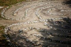 Labyrinthe de pierre et d'interpréteur de commandes interactif Photo stock
