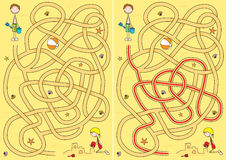 Labyrinthe de plage illustration stock