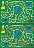 Labyrinthe de princesse Images libres de droits