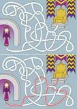 Labyrinthe de reine illustration de vecteur