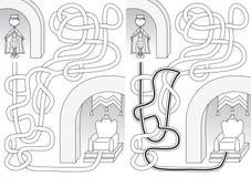 Labyrinthe de roi illustration libre de droits