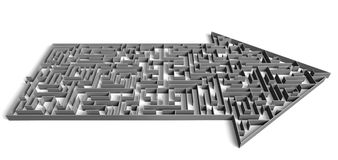 Labyrinthe de sens Image libre de droits