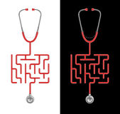 Labyrinthe de stéthoscope illustration stock