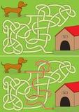 Labyrinthe de teckel images libres de droits