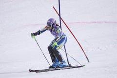 Labyrinthe de Tina - ski alpestre Photographie stock libre de droits