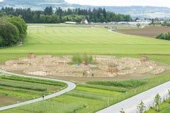 Labyrinthe de vue aérienne Photographie stock libre de droits