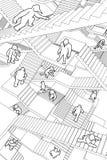 Labyrinthe des escaliers Photos libres de droits
