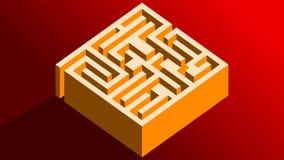 Labyrinthe des poutres illustration stock