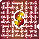Labyrinthe du dollar 3D Photos libres de droits