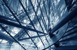 Labyrinthe en acier bleu Image libre de droits
