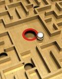 Labyrinthe et bille Photographie stock libre de droits