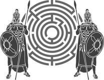 Labyrinthe et dispositifs protecteurs Images libres de droits
