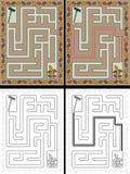 Labyrinthe facile d'automne Photo stock