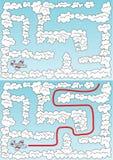 Labyrinthe facile d'avion illustration stock