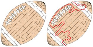 Labyrinthe facile de boule illustration stock