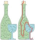 Labyrinthe facile de bouteille Images libres de droits