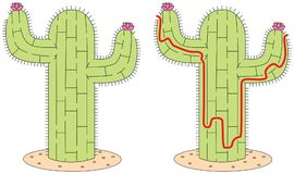 Labyrinthe facile de cactus illustration libre de droits