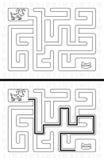 Labyrinthe facile de chien Photographie stock