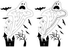 Labyrinthe facile de fantôme illustration stock