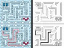 Labyrinthe facile de papillon Image stock