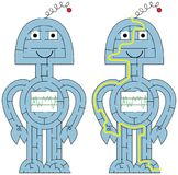 Labyrinthe facile de robot illustration de vecteur