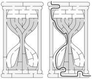 Labyrinthe facile de sablier Images stock
