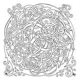 Labyrinthe floral d'abrégé sur boucle de puzzle Image stock