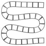 Labyrinthe futuriste abstrait, calibre de modèle de zigzag pour des jeux du ` s d'enfants, découpe noire de places blanches d'iso Photographie stock