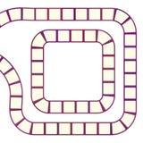 Labyrinthe futuriste abstrait, calibre en spirale de modèle pour des jeux du ` s d'enfants, découpe marron rouge de places roses  Image libre de droits