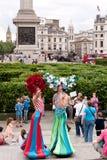 Labyrinthe géant carré de Trafalgar. Photographie stock