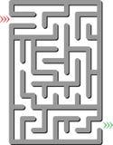 Labyrinthe gris Photographie stock libre de droits
