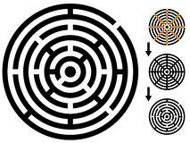 Labyrinthe - labyrinthe facile de modification - changez la couleur n'importe quelle partie Photo stock