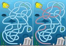 Labyrinthe perdu de ville Image stock
