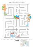 Labyrinthe pour des gosses illustration de vecteur