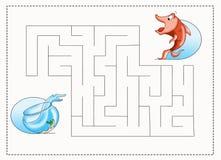 Labyrinthe pour les enfants 2 Photographie stock libre de droits