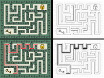Labyrinthe principal facile illustration libre de droits
