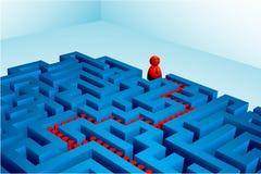 labyrinthe résolu Images libres de droits