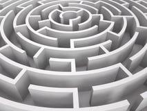 Labyrinthe rond Photo stock