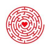 Labyrinthe rond de la terre de vecteur Image libre de droits