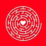 Labyrinthe rond de la terre de vecteur Photos stock