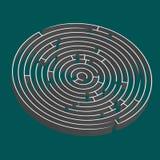 Labyrinthe rond de Tridimensional Illustration de Vecteur